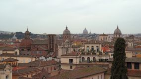 View over Rome rooftops. Italy stock video footage