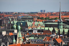 View over the roofs of copenhagen, denmark Royalty Free Stock Photography