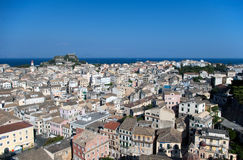 View over the roofs of Corfu's capital Kerkyra Stock Photos