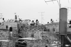 View over the roofs of East Jerusalem, Palestine, Israel stock photos
