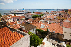 View over the roofs of Lisbon Royalty Free Stock Photography