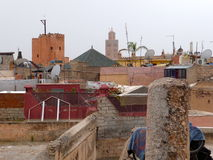 View over the roofs of Marrakech Royalty Free Stock Photos