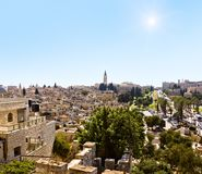 View over the roofs of the old city .Jerusalem Stock Photo