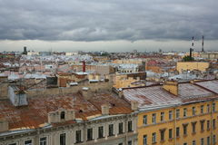 View over the roofs of the old European city Royalty Free Stock Photography