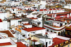View over the roofs of the old quarter of Seville. Stock Photo