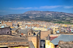 View over the roofs of the old town of the historic Kingdom City Fes in Morocco Stock Photo