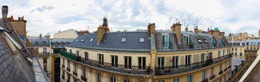 View over the roofs of Paris Royalty Free Stock Image