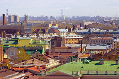View over the roofs of  Petersburg Royalty Free Stock Photography