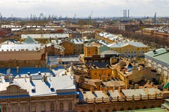 View over the roofs of  Petersburg Royalty Free Stock Photo