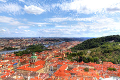View over the roofs of Prague Royalty Free Stock Photos