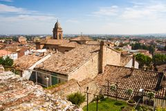 View over the roofs of Santarcangelo Royalty Free Stock Images