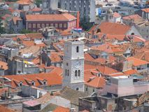 View over the roofs of Sibenik. stock photo
