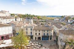 St. Emilion, France. View over the roofs of St. Emilion, Bordeaux, France stock photos
