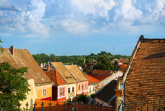 A view over the roofs of Szentendre, a little touristic town near Budapest. Hungary royalty free stock image