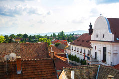 A view over the roofs of Szentendre, a little touristic town near Budapest Royalty Free Stock Photos