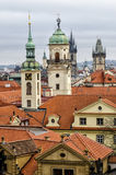 View over the roofs. And towers of prague Royalty Free Stock Photography