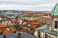 View over the roofs. And towers of prague Stock Photo