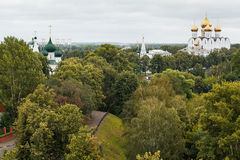 View over the roofs, Yaroslavl Royalty Free Stock Photos