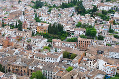 View over the rooftops of the city of Granada Royalty Free Stock Images