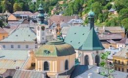 Banska Stiavnica town rooftops Stock Image