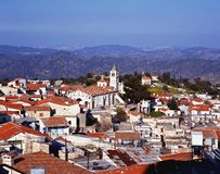 View over rooftops, Lefkara, Cyprus Stock Images