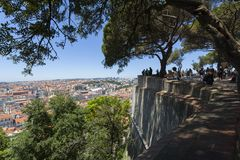 View over the rooftops of Lisbon Royalty Free Stock Photography