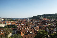 View over rooftops of the old town area Royalty Free Stock Photo