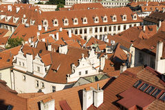 View over rooftops of the old town area Royalty Free Stock Images