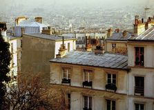 View over the rooftops of paris france Stock Images
