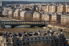 View over the rooftops of Paris Stock Photos
