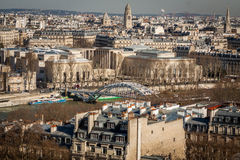 View over the rooftops of Paris Stock Images