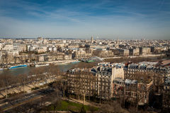 View over the rooftops of Paris Royalty Free Stock Images