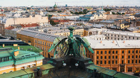 View over the rooftops from St. Isaac`s Cathedral in St.Petersburg. Royalty Free Stock Photo