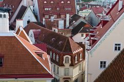 View over the rooftops of Tallinn Stock Image