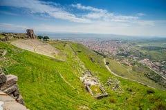 View over ruins, Pergamon Royalty Free Stock Photos