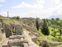 View over the ruins of Pompeii Stock Photo