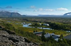 View over rural Iceland Stock Photo