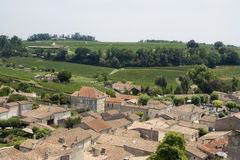 View over saint-emilion and vineyards Royalty Free Stock Photography