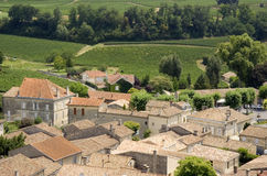 View over saint-emilion and vineyards Royalty Free Stock Image