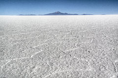 View over the saltflates. View over the salt flates of Uyuni, Bolivia Royalty Free Stock Image