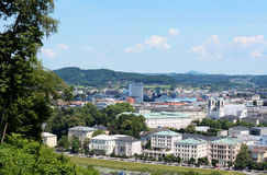 View over Salzburg city in Europe Stock Photos