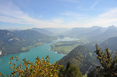 View over salzkammergut Stock Photo