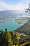 View over salzkammergut Royalty Free Stock Image