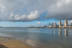 View over San Diego harbor from Centennial Park. Travel photography royalty free stock image