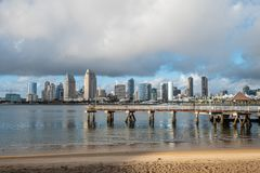 View over San Diego harbor from Centennial Park. Travel photography royalty free stock photos