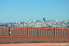 View over San Fransisco from Golden Gate Brigde Royalty Free Stock Images