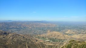 View Over the San Gabriel Valley. View from Chatsworth looking over the LA Basin Stock Photo