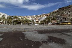 Capital San Sebastian the La Gomera, spotted from the black beach Stock Photos