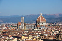 View over Santa maria Del Fiore Royalty Free Stock Photo