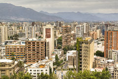 View over Santiago, Chile Royalty Free Stock Images